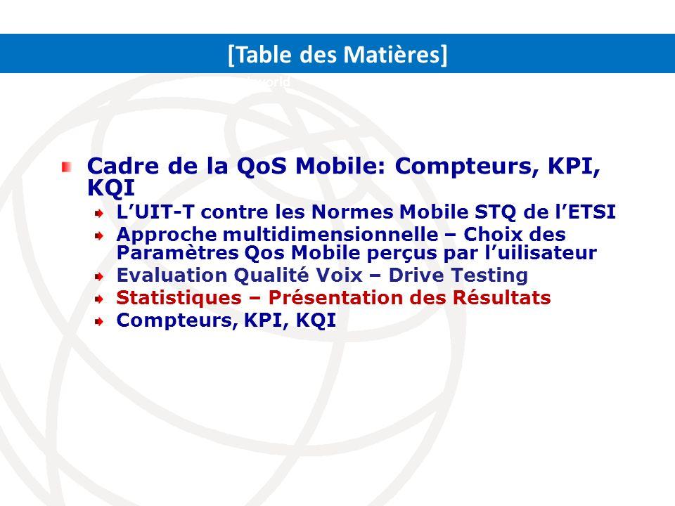 [Table des Matières] Cadre de la QoS Mobile: Compteurs, KPI, KQI